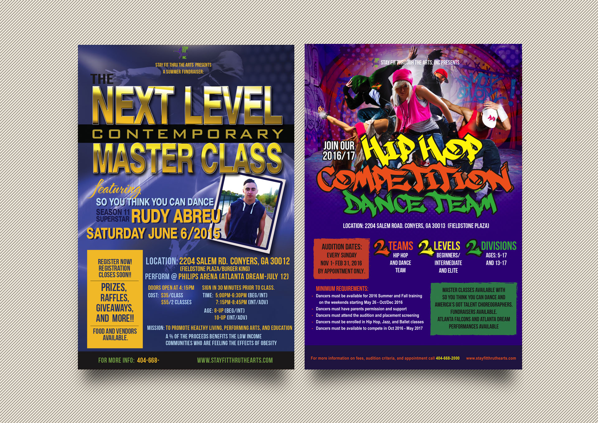Marketing Flyer Design for Aim Studios Dance Studio