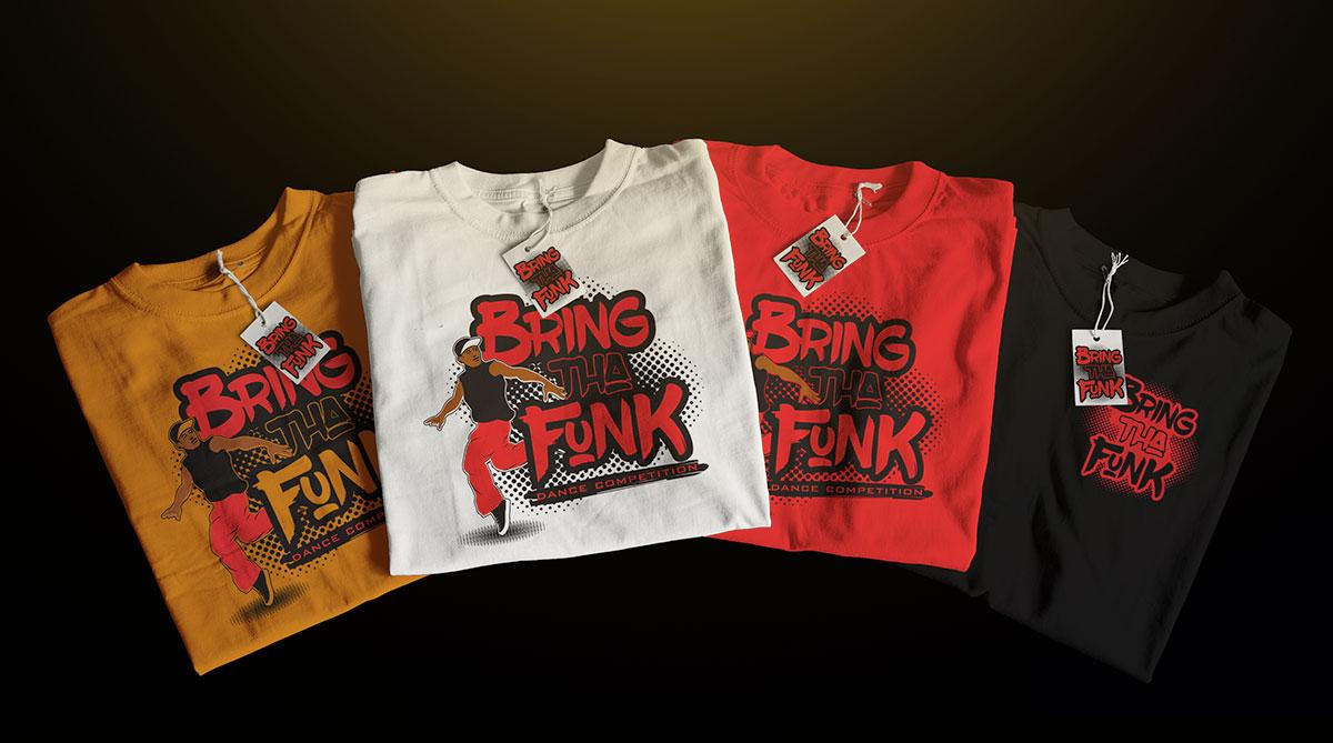 T-Shirt Designs for Aim Studios event - Bring Tha Funk